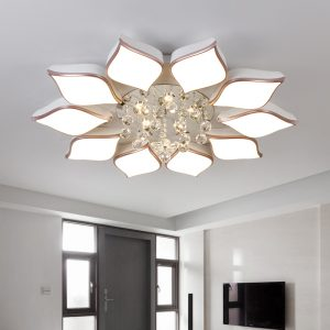 Crystal Flower Chandelier Ceiling Lights