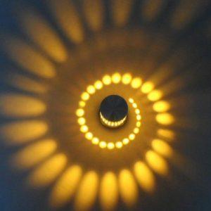 Modern Style Sun Swirl Wall Lights