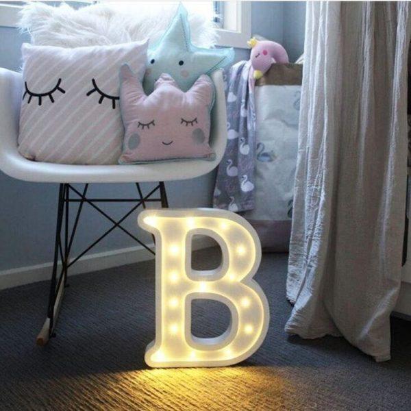 Luminous LED Letter Shaped Night Lights