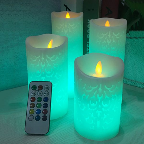 418 1fd11f651796e758b948e100fd89ba98 - Remote Control Patterned LED Candle Night Lights | RadiantHomeLighting