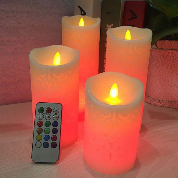 418 87bbfa01430124f65034fd3de35f2ee8 - Remote Control Patterned LED Candle Night Lights | RadiantHomeLighting