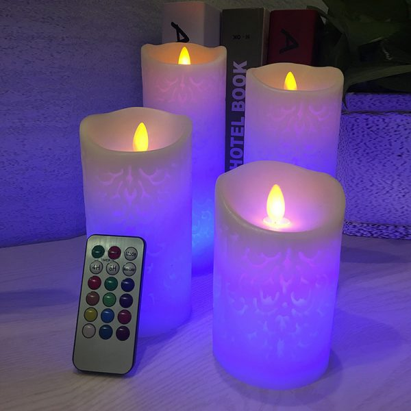 418 8cd70c6d9ed828e69a96bce010533443 - Remote Control Patterned LED Candle Night Lights | RadiantHomeLighting
