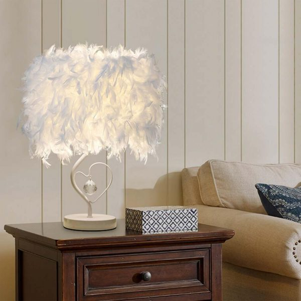 Elegant Reading Feather Desk Lamp