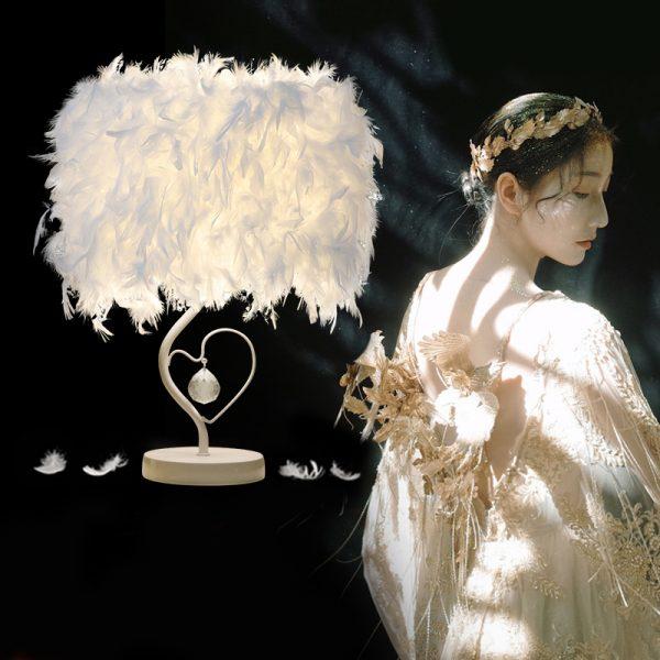 465 848f3e236548b97990adf3170081e3f4 - Elegant Reading Feather Desk Lamp | RadiantHomeLighting