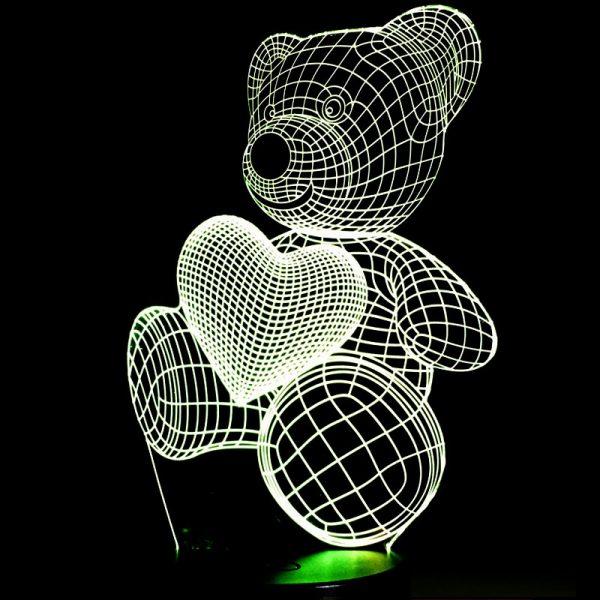 1864 3a7c37d0f4f99a9f79ae0e6ce60cf5a4 - Bear and Heart 3D Home Lamp | RadiantHomeLighting