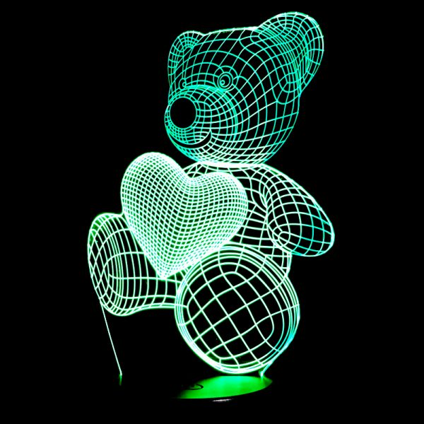 1864 9b53a05bba8b3dd83c6e2c86568d5250 - Bear and Heart 3D Home Lamp | RadiantHomeLighting