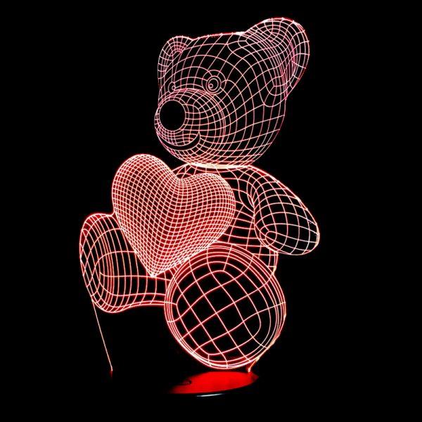 1864 f4d37d2c6c58019b13fccdb2155c34ef - Bear and Heart 3D Home Lamp | RadiantHomeLighting