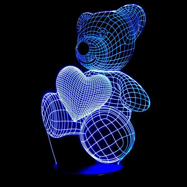 1864 ff975d430b3e51dd3cc29a7eb8a214b8 - Bear and Heart 3D Home Lamp | RadiantHomeLighting