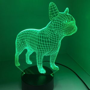 3D French Bulldog LED Night Lights
