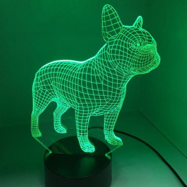 3D French Bulldog LED Night Lights