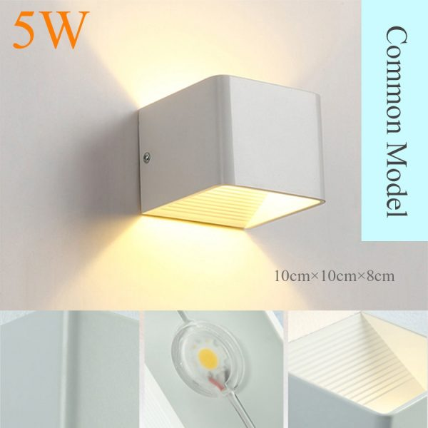 2349 no25c2 - Modern Square Aluminum LED Lamp | RadiantHomeLighting