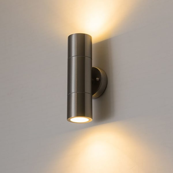 2421 jkaqyf - Double-Sided Cylinder Waterproof Outdoor Wall Lamp | RadiantHomeLighting