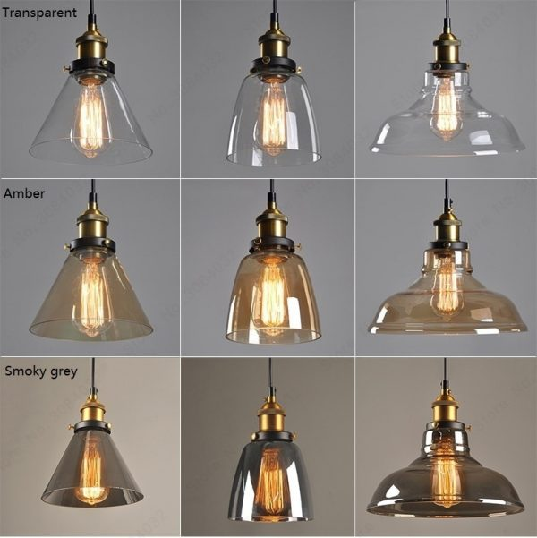 3737 m0bcvq - Loft Style Amber Glass LED Pendant Lighting | RadiantHomeLighting