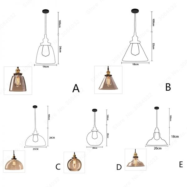 3737 r1ku0u - Loft Style Amber Glass LED Pendant Lighting | RadiantHomeLighting