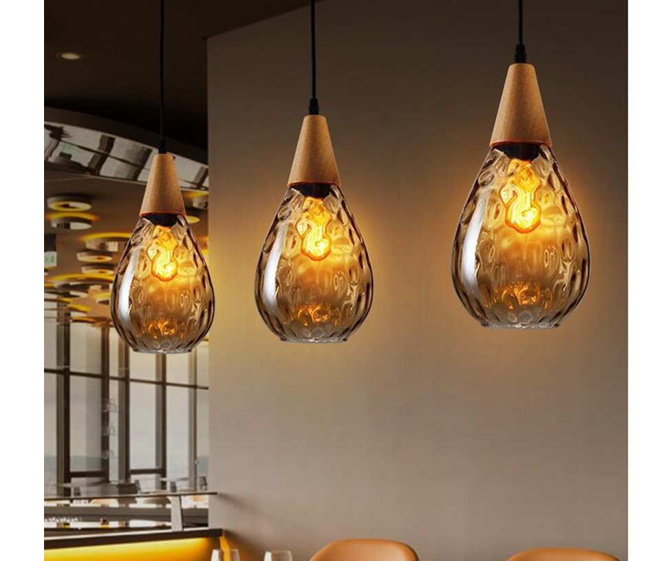 Water Drop Glass Pendant Lighting