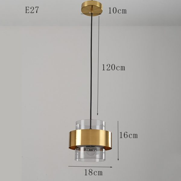 3777 kq594y - Nordic Style Golden Pendant Lighting | RadiantHomeLighting