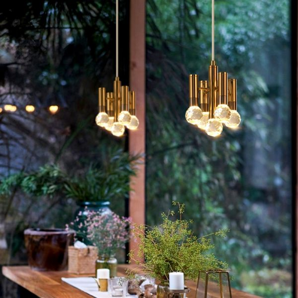 3785 rgvneo - Gold and Crystal Pendant Lighting | RadiantHomeLighting