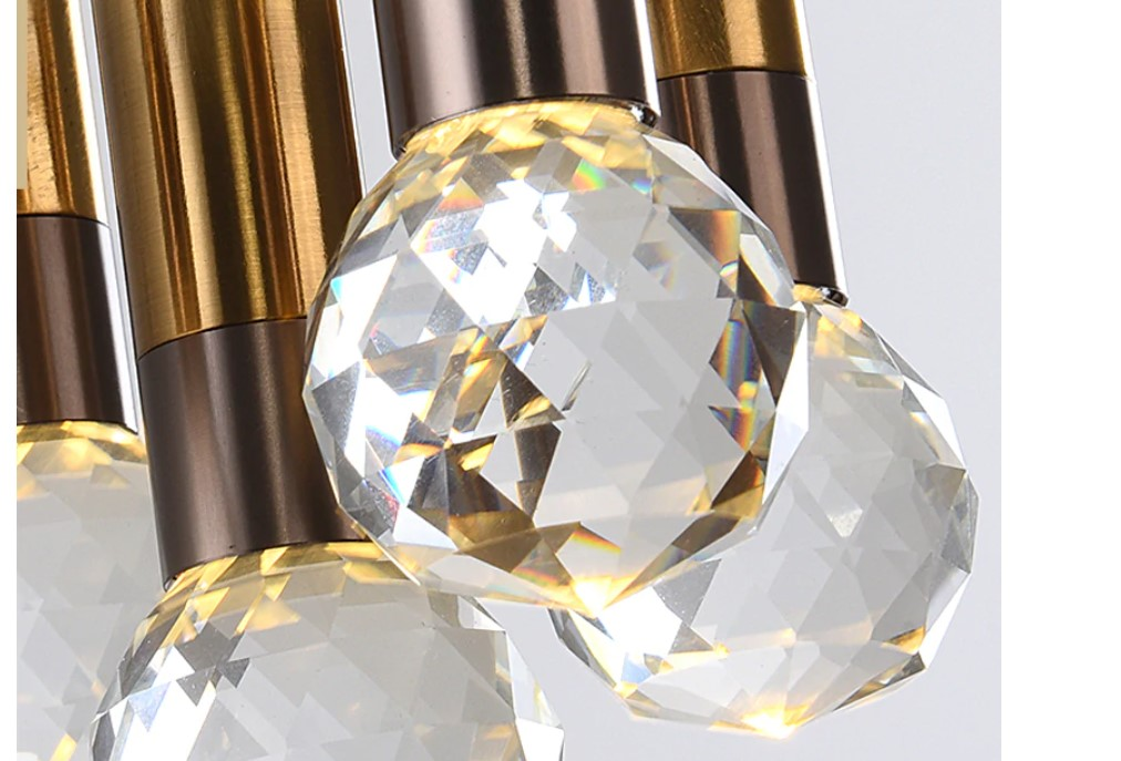 Gold and Crystal Pendant Lighting