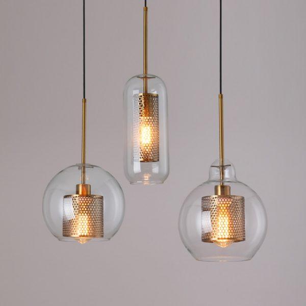 3845 - Loft Style Glass Pendant Lighting | RadiantHomeLighting