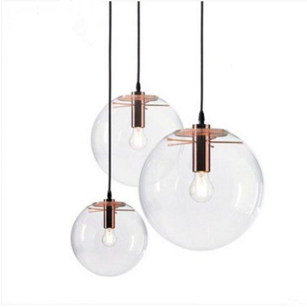 3854 - Nordic Style Glass Ball Pendant Lighting | RadiantHomeLighting
