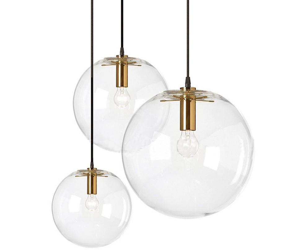Nordic Style Glass Ball Pendant Lighting