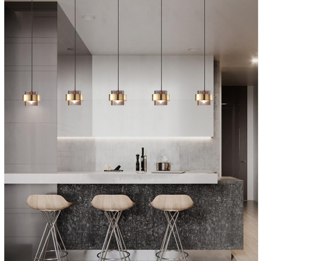 Golden Geometric Design Pendant Lighting