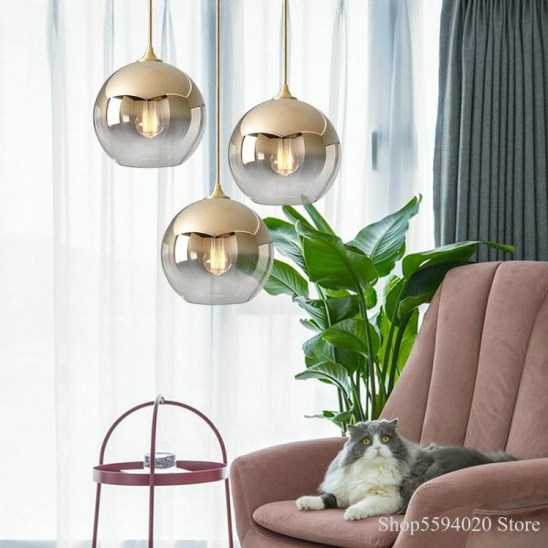 3871 - Nordic Style Champagne Pendant Lighting | RadiantHomeLighting