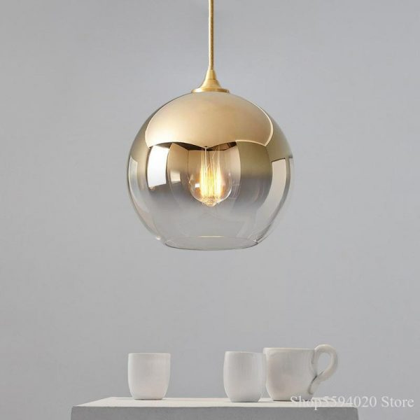 3871 thgtcc - Nordic Style Champagne Pendant Lighting | RadiantHomeLighting
