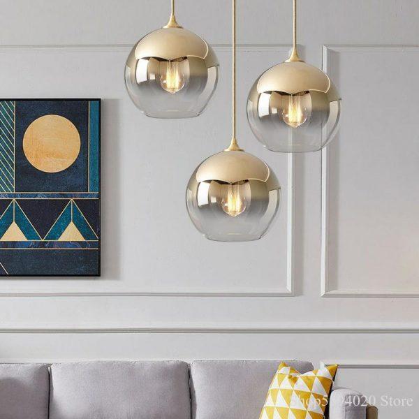 3871 zijgne - Nordic Style Champagne Pendant Lighting | RadiantHomeLighting