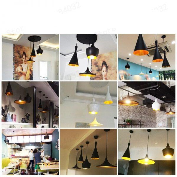 3902 - Nordic Style Golden Detail Pendant Lighting | RadiantHomeLighting