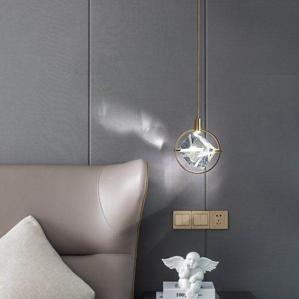 3918 pmprk5 - Crystal Cube LED Pendant Lighting | RadiantHomeLighting