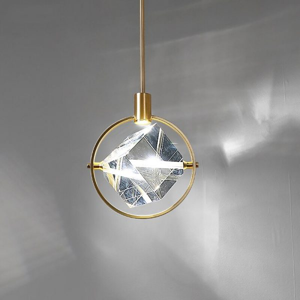 3918 sqsc2v - Crystal Cube LED Pendant Lighting | RadiantHomeLighting