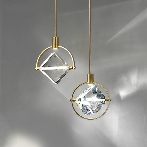 3918 - Crystal Cube LED Pendant Lighting | RadiantHomeLighting