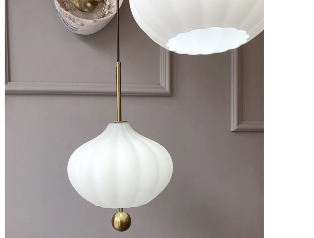Glass Bell Pendant Lighting