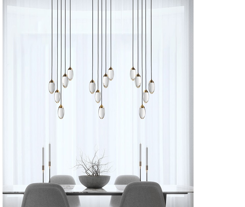Glass Acorn Pendant Lighting