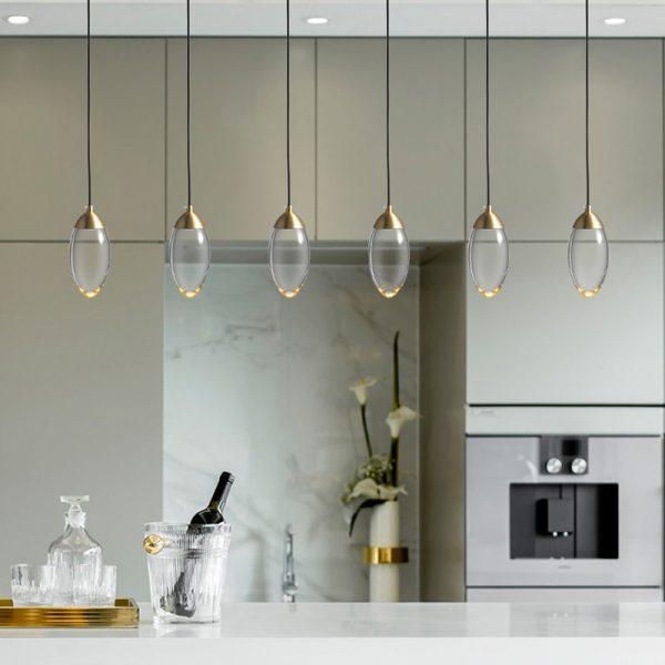 3935 - Glass Acorn Pendant Lighting | RadiantHomeLighting