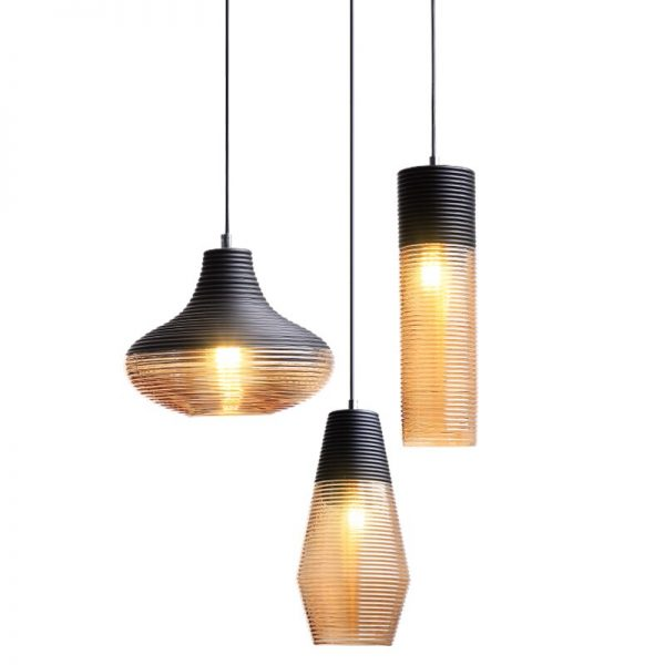 3938 9you1b - Black and Brown Design LED Pendant Lighting | RadiantHomeLighting
