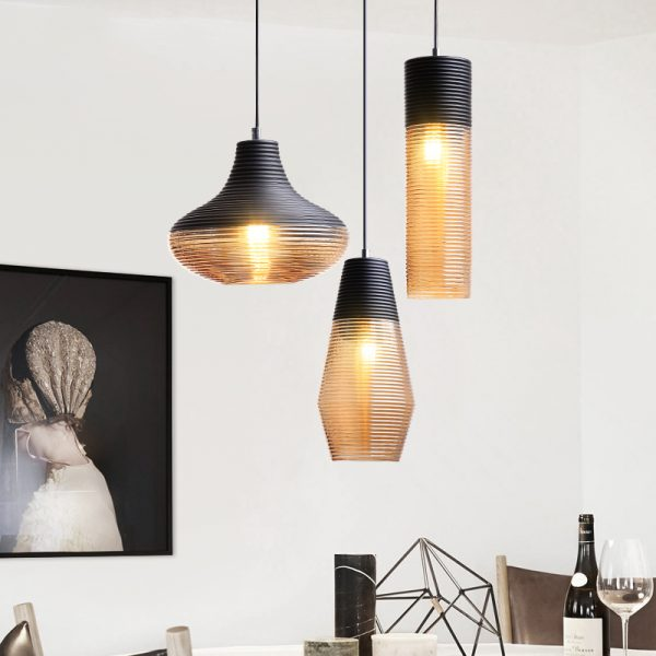 3938 o2svfz - Black and Brown Design LED Pendant Lighting | RadiantHomeLighting