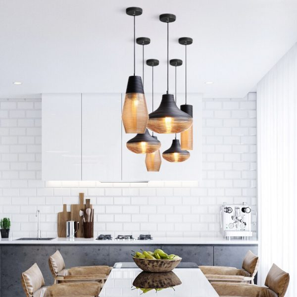 3938 ohmhp1 - Black and Brown Design LED Pendant Lighting | RadiantHomeLighting