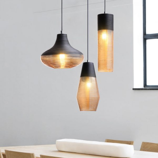 3938 qanec0 - Black and Brown Design LED Pendant Lighting | RadiantHomeLighting