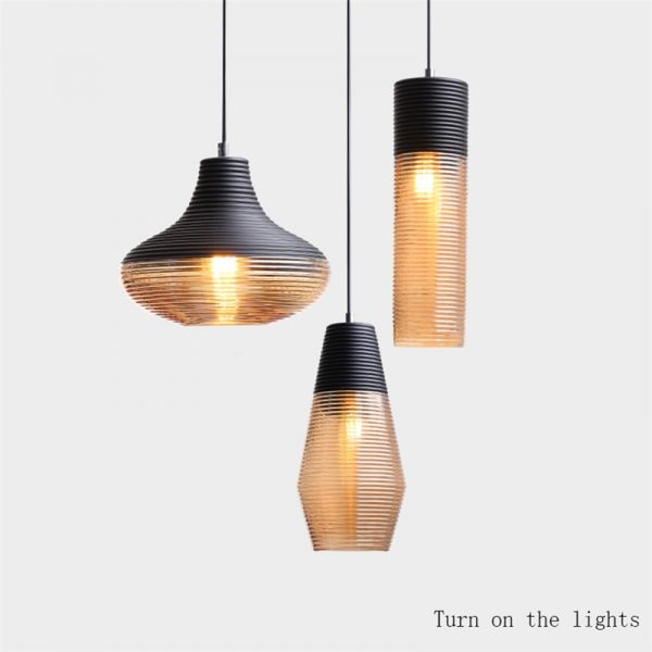 3938 zfvlm5 - Black and Brown Design LED Pendant Lighting | RadiantHomeLighting