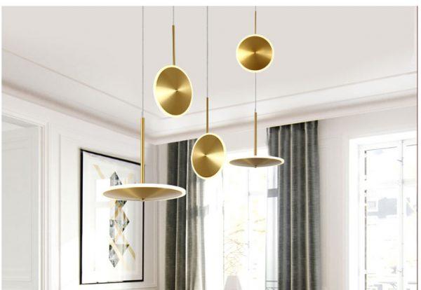 3944 3ahmdh - Golden Disc LED Pendant Lighting | RadiantHomeLighting