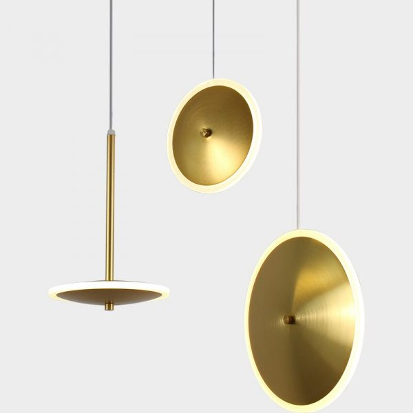3944 ejcppj - Golden Disc LED Pendant Lighting | RadiantHomeLighting