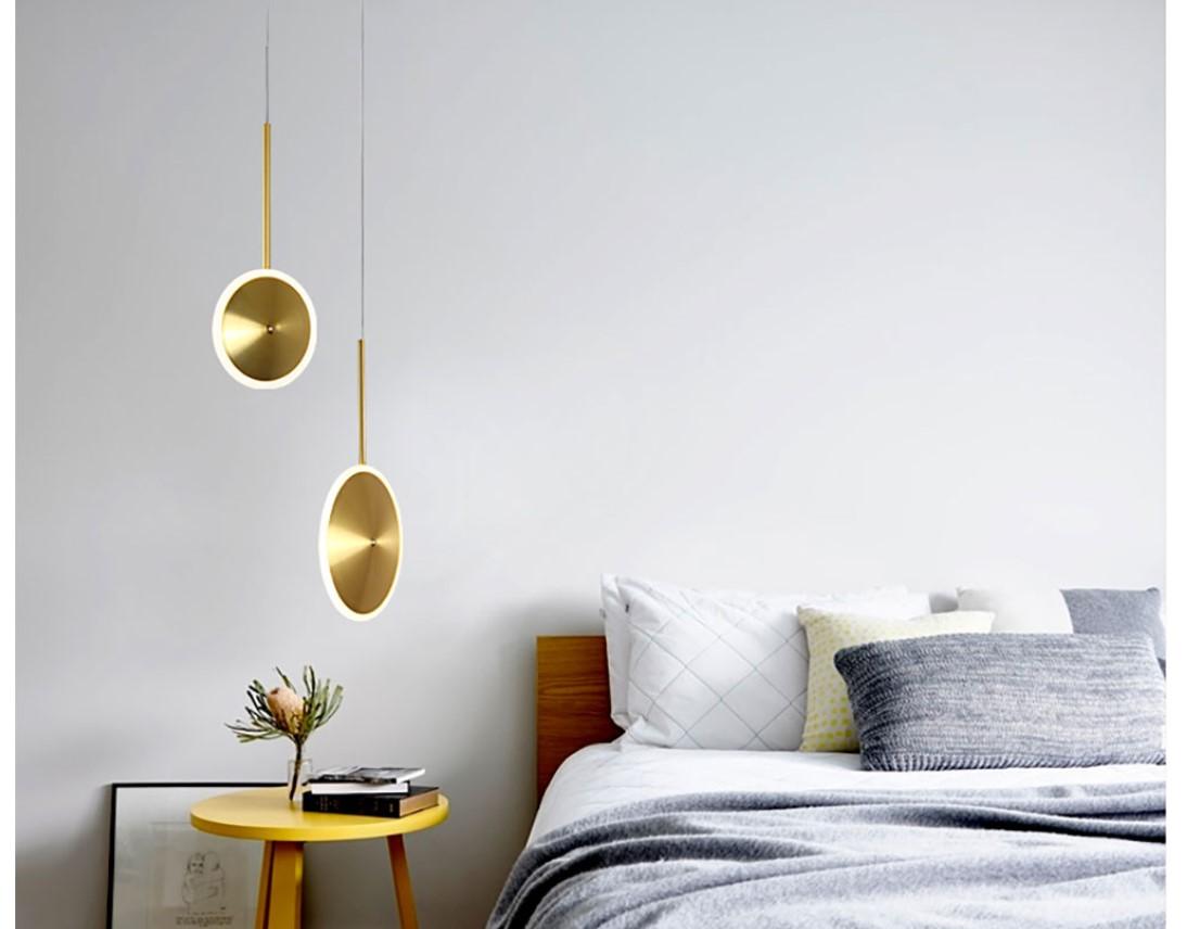 Golden Disc LED Pendant Lighting