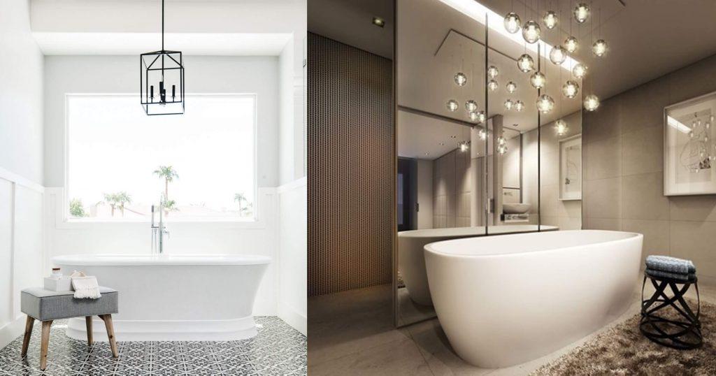 Pendant Lights Over Bathtub