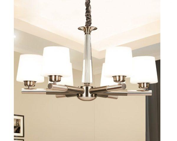 4422 sd8cmr - Nickel Chandelier Lighting | RadiantHomeLighting