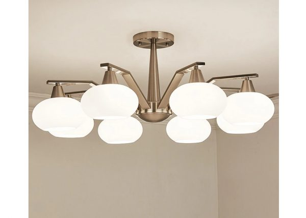 4494 5sogkm - Modern Design Frosted Glass Chandelier Lighting | RadiantHomeLighting