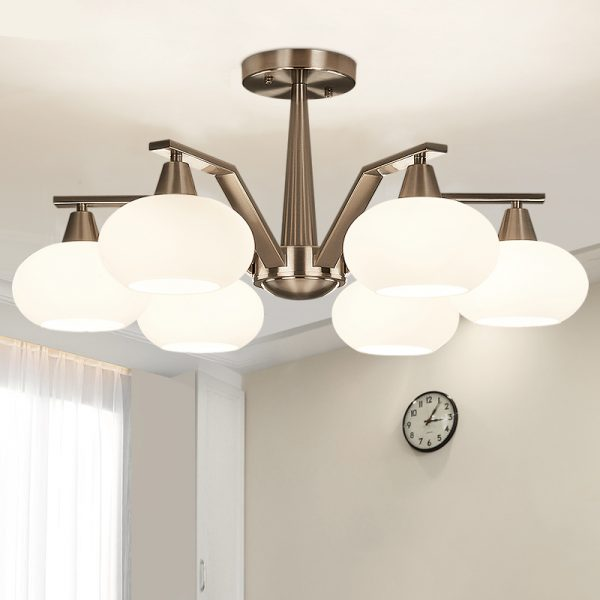 4494 ovvgri - Modern Design Frosted Glass Chandelier Lighting | RadiantHomeLighting