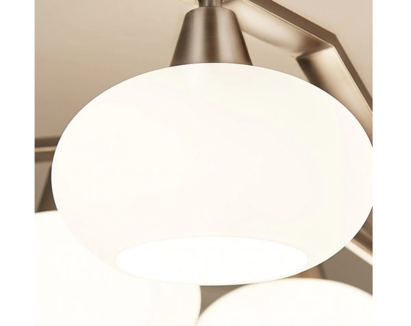 4494 ryjw1s - Modern Design Frosted Glass Chandelier Lighting | RadiantHomeLighting